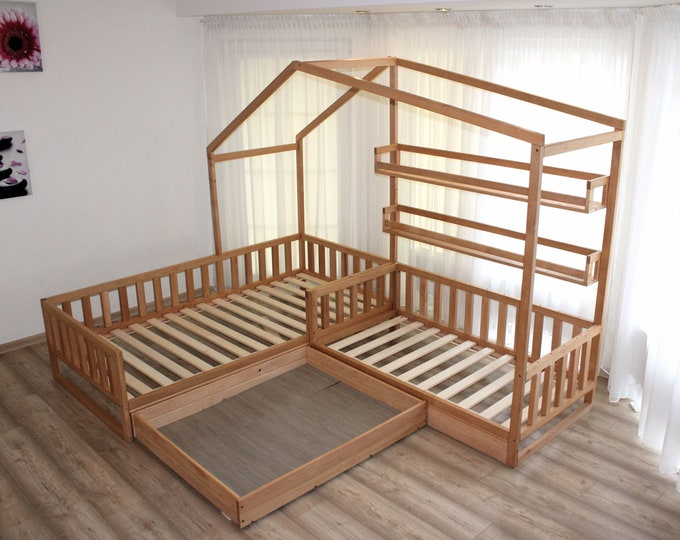 Toddler house beds with slats! Montessori style bed!