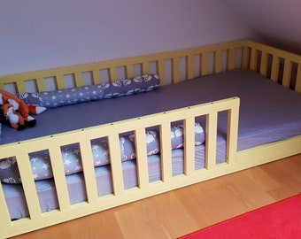 https://home4dreams.com ,Painted toddler bed , Nursery crib ,childrens beds, kids beds, wood bed, Montessori bed, kids bedroom, floor bed