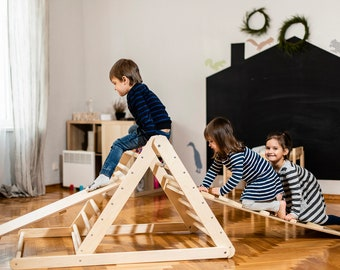 Pikler triangle, Step Triangle, Climbing ladder for toddler, Climbing triangle for toddlers , Triangle with ramp , Pikler dreieck