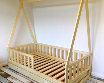 https://home4dreams.com ,Toddler bed ,nursery crib, children bed, Montessori bed, kid bed, wood bed, children home, kids bedroom, floor bed