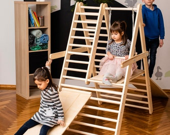 The gym for toddlers, Step Triangle, Climbing ladder for toddler, Climbing triangle for toddlers, Triangle with ramp, Toddler gym
