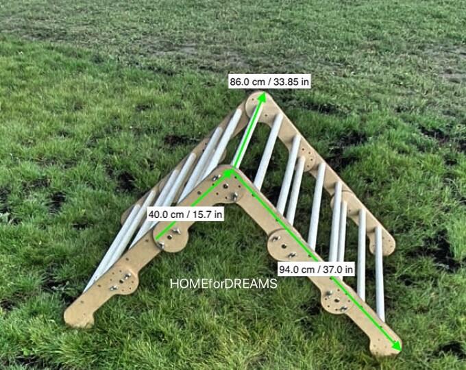 Pikler triangle - transformer, Step Triangle, Climbing ladder for toddler, Climbing triangle for toddlers, Triangle with ramp,Pikler dreieck