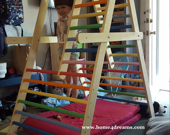 The gym for toddlers, Step Triangle, Climbing ladder for toddler, Climbing triangle for toddlers, Toddler gym, www.home4dreams.com
