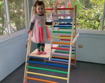 Welp De sportschool voor peuters stap driehoek klim ladder voor | Etsy LR-79