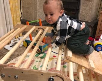 Pikler triangle - transformer, Step Triangle, Climbing ladder for toddler, Climbing triangle for toddlers ,Triangle with ramp,Pikler dreieck