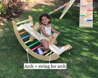 Climbing arch & swing, all in one. Pikler arch, Pikler hump , climbing frame arch