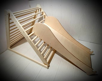 Ladder, rock, rope board for the Pikler triangle , Pikler dreieck , toddler gym , climbing arch.
