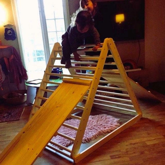 Ugi-Bugi Climbing triangle, Baby climber, Climbing ladder for toddler, Pikler triangle,  Step Triangle, Triangle with ramp!