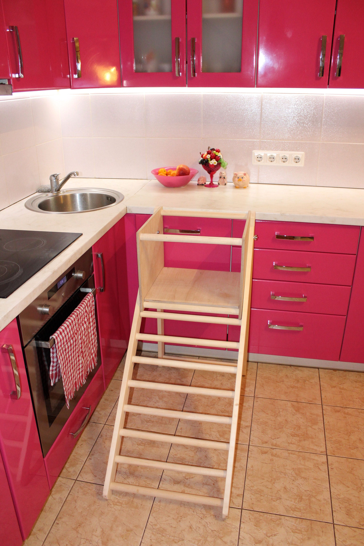 kitchen step stool ladder stool climbing ladder for toddler ladder stool with safety rail. Black Bedroom Furniture Sets. Home Design Ideas