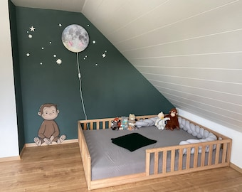 Toddler bed with slats, Nursery crib , Montessori bed, floor bed, www.home4dreams.com