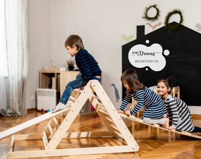 Featured listing image: Climbing triangle, Step Triangle, Climbing ladder for toddler, Climbing frame , Kletterdreieck, www.home4dreams.com