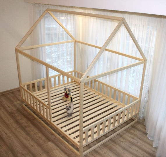 Toddler house bed, Montessori style bed.