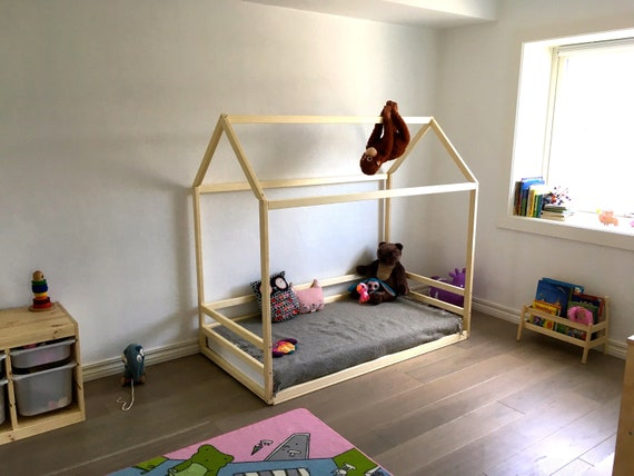 Toddler house bed by HomeForDreams, Montessori floor bed.