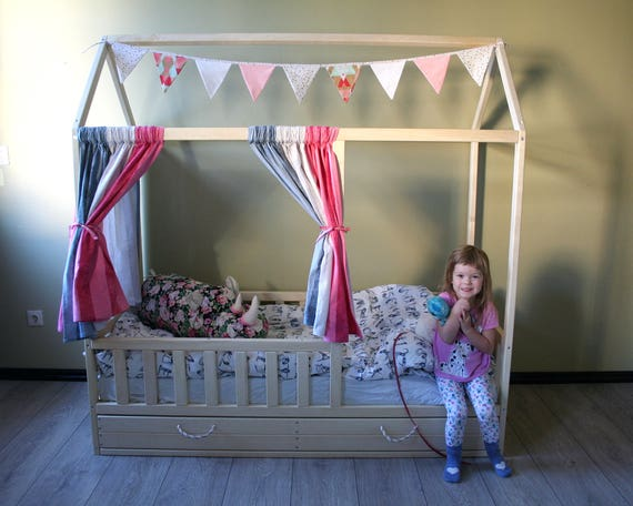 Toddler house bed! Montessori style bed!