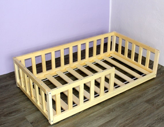 Floor bed with slats, Toddler bed , Nursery crib , Montessori bed