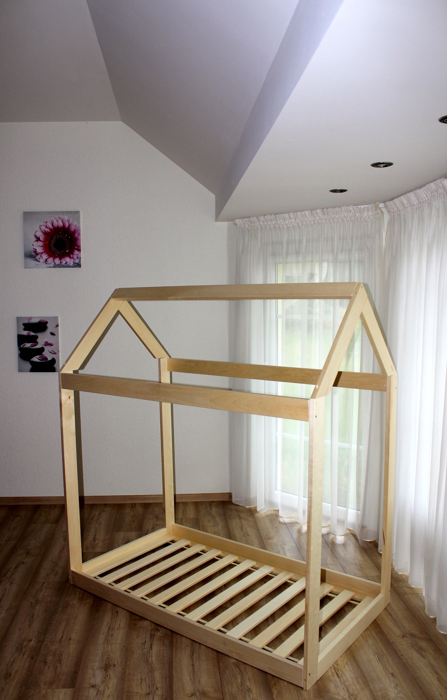 kleinkind haus bett montessori stock bett tipi bett kind etsy. Black Bedroom Furniture Sets. Home Design Ideas