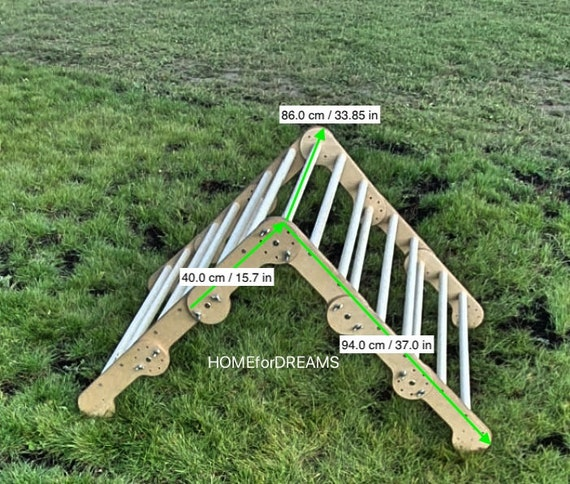 Pikler triangle - transformer, Step Triangle, Climbing ladder for toddler, Climbing triangle for toddlers, Triangle with ramp,Pikler dreieck