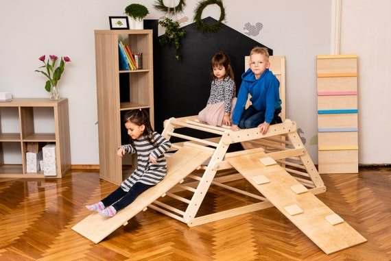 Pikler triangle, Step Triangle, Climbing ladder for toddler, Climbing triangle for toddlers , Triangle with ramp, Kletterdreieck