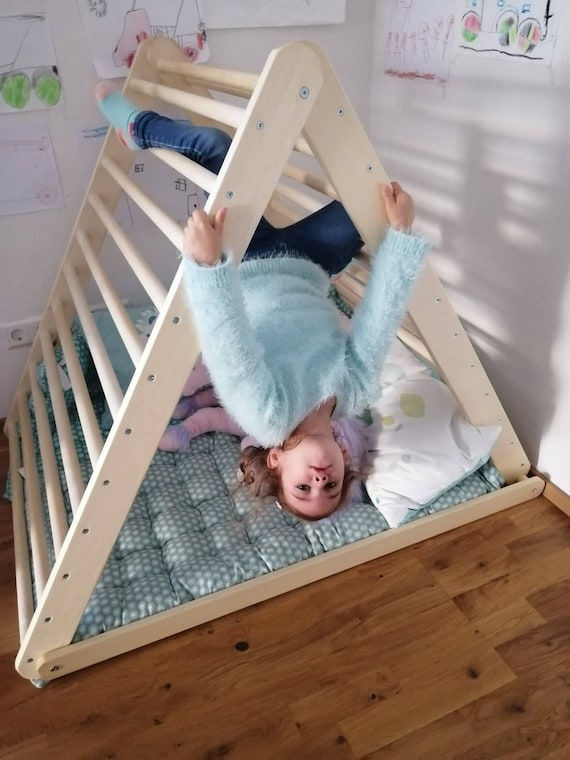 Climbing triangle, Baby climber, Climbing ladder for toddler, Pikler triangle,  Step Triangle, Triangle with ramp, foldable triangle