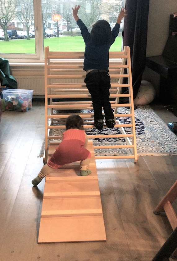 Climbing triangle, Baby climber, Climbing ladder for toddler, Pikler triangle,  Step Triangle, Triangle with ramp