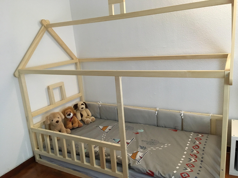 kleinkind bett kinderbett montessori bett kind bett bett etsy. Black Bedroom Furniture Sets. Home Design Ideas