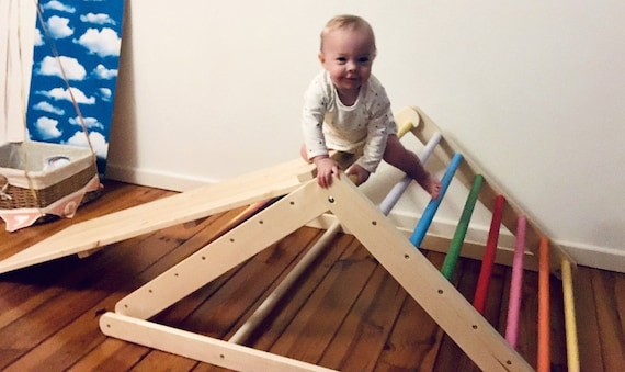 Pikler triangle, Step Triangle, Climbing ladder for toddler, Climbing triangle for toddlers , Triangle with ramp, Pikler dreieck