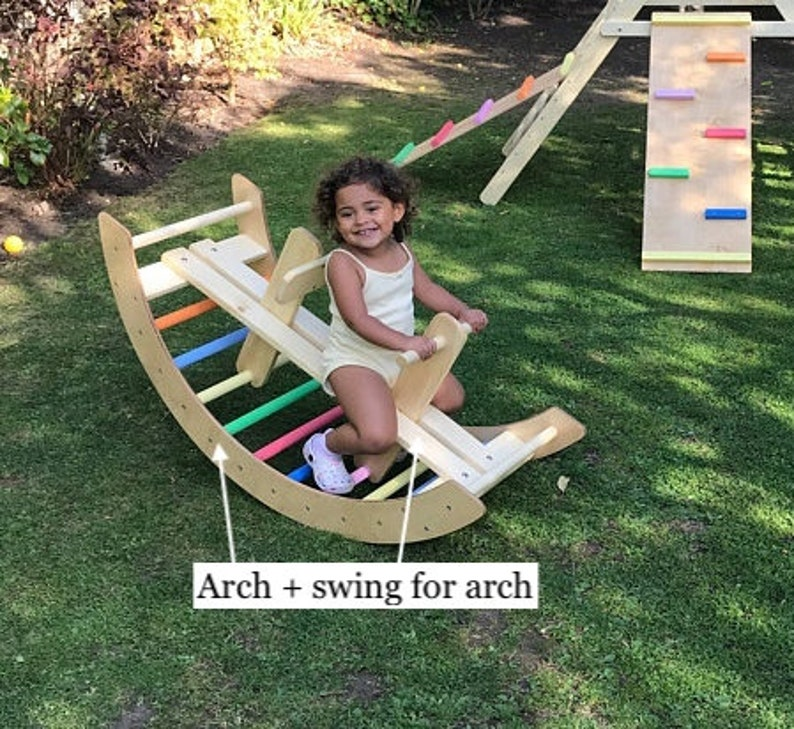 Climbing arch & swing all in one. Pikler arch Pikler hump  image 0