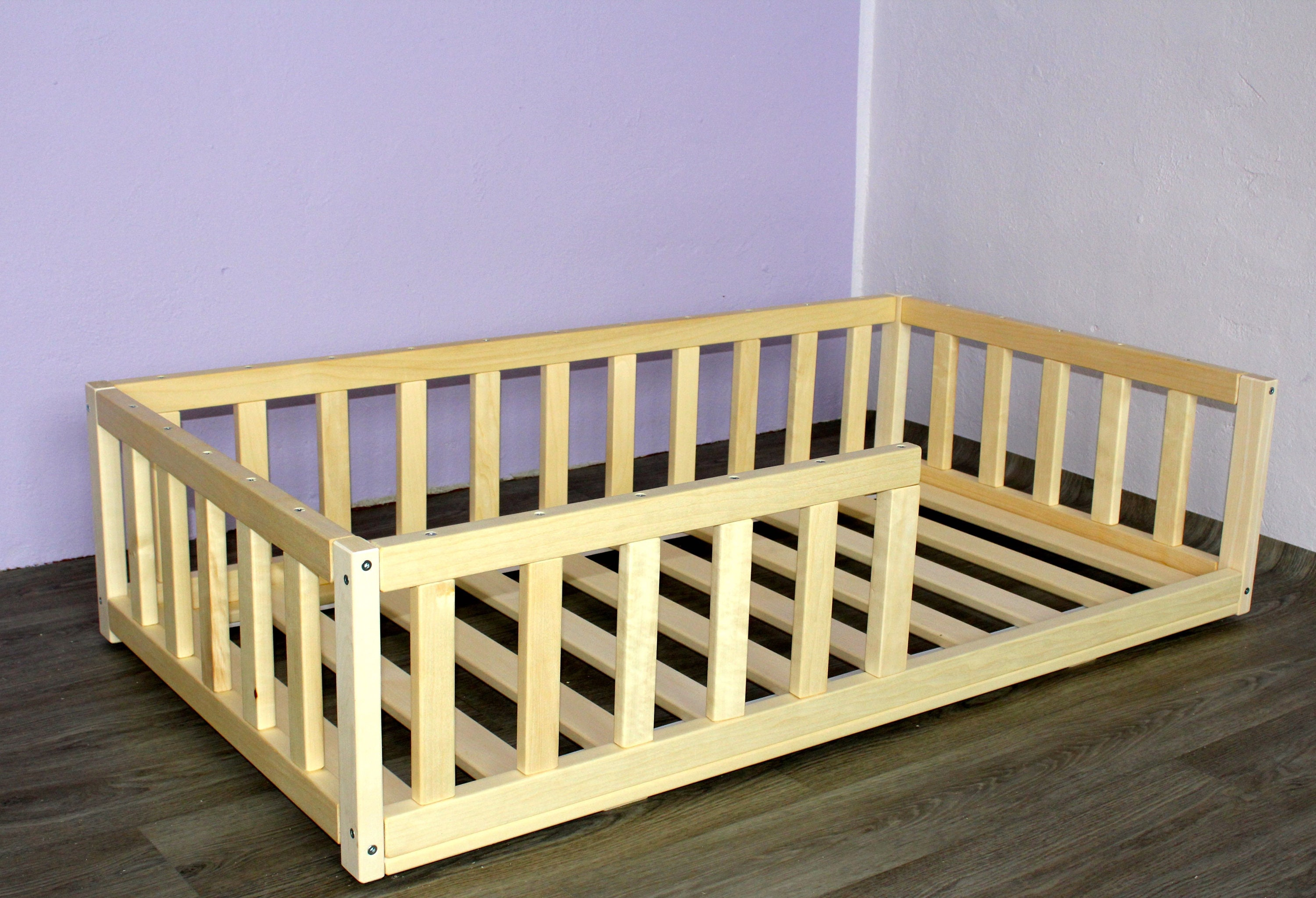 Floor Bed With Slats Toddler Bed Nursery Crib