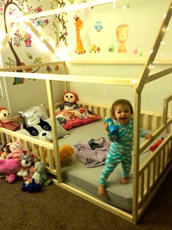 Toddler bed, children bed, Montessori bed, kid bed, wood bed, children home, waldorf toy, nursery crib, kids bedroom, floor bed