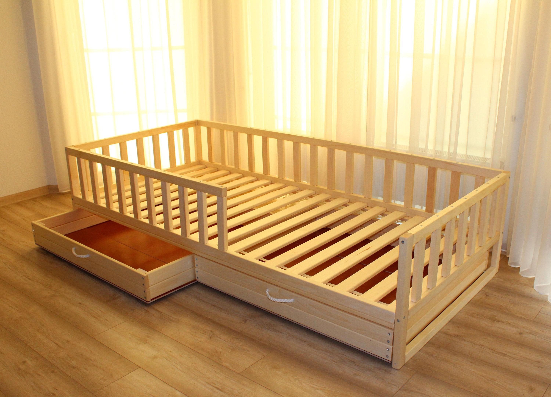 Girls Kids Childrens Wooden Nursery Bedroom Furniture Toy: Toddler Bed ,nursery Crib, Children Bed, Montessori Bed