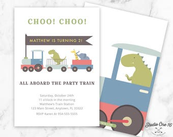 Train Birthday Invitation, Train Invitation, Train Party Invite, Birthday Train, CHOO CHOO, Boy Birthday, Train Invite, Choo Choo Invite