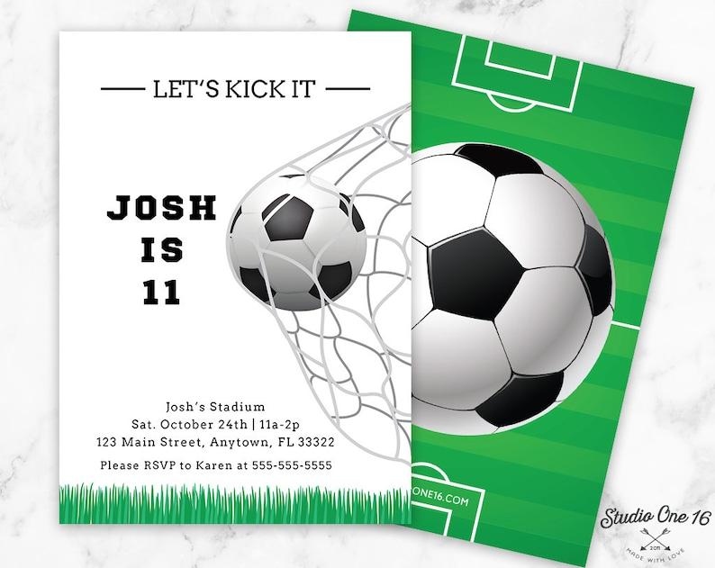 Soccer Birthday Invitation Soccer Invitation Soccer Party Etsy