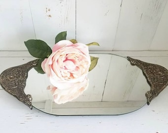 Ornate Mirrored Vanity Tray