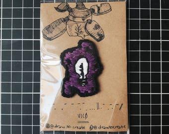 Handmade lightbulb patch