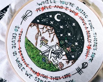 Screen embroidery piece!