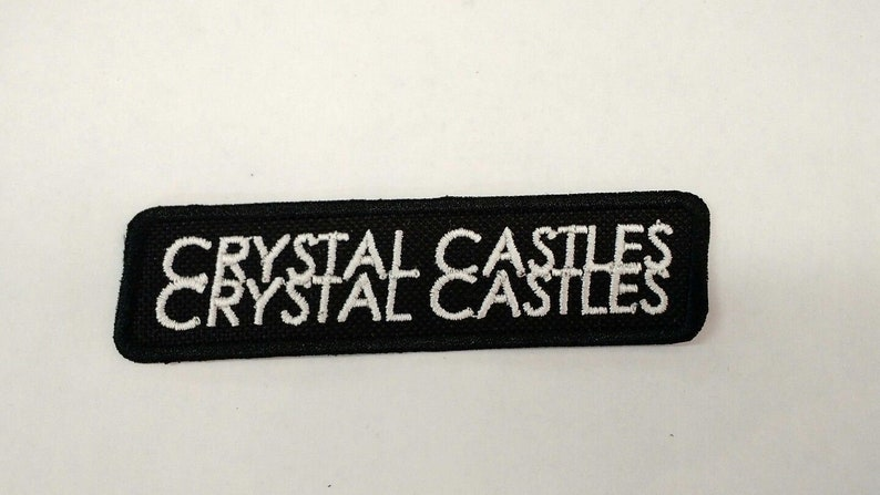Crystal Castles Patch Embroidered Iron/sew-on Alice Glass The Cure Synth  pop Witch House