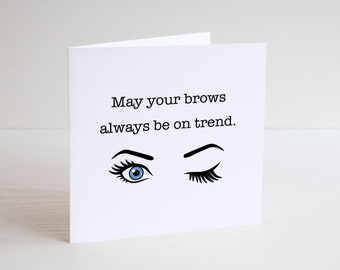 Left eyebrow owns and iPhone 6...........l Greetings Card