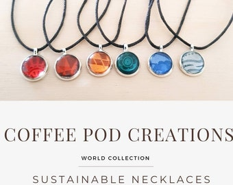 Sustainable Necklace, Handmade from Coffee Pods, Eco Friendly Gift by Coffee Pod Creations, Unique Gifts for Her, Original Collection