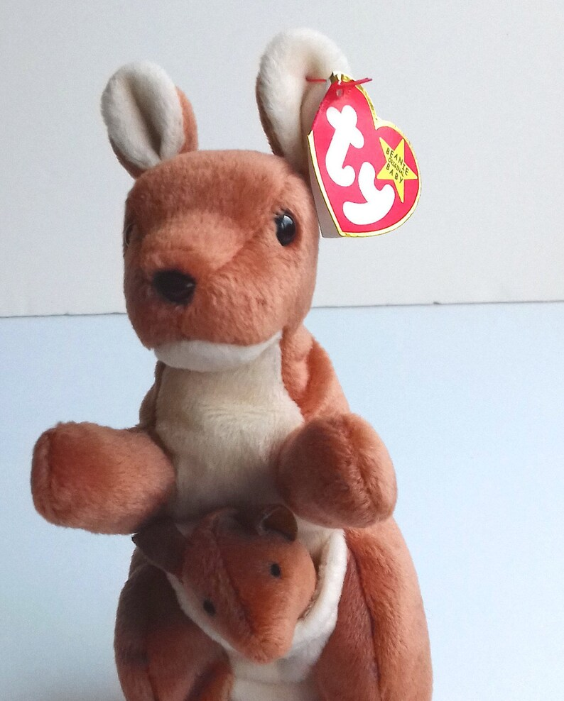 ecb98d7d02c Vintage Ty Kangaroo called Pouch Beanie Baby and Joey 1996