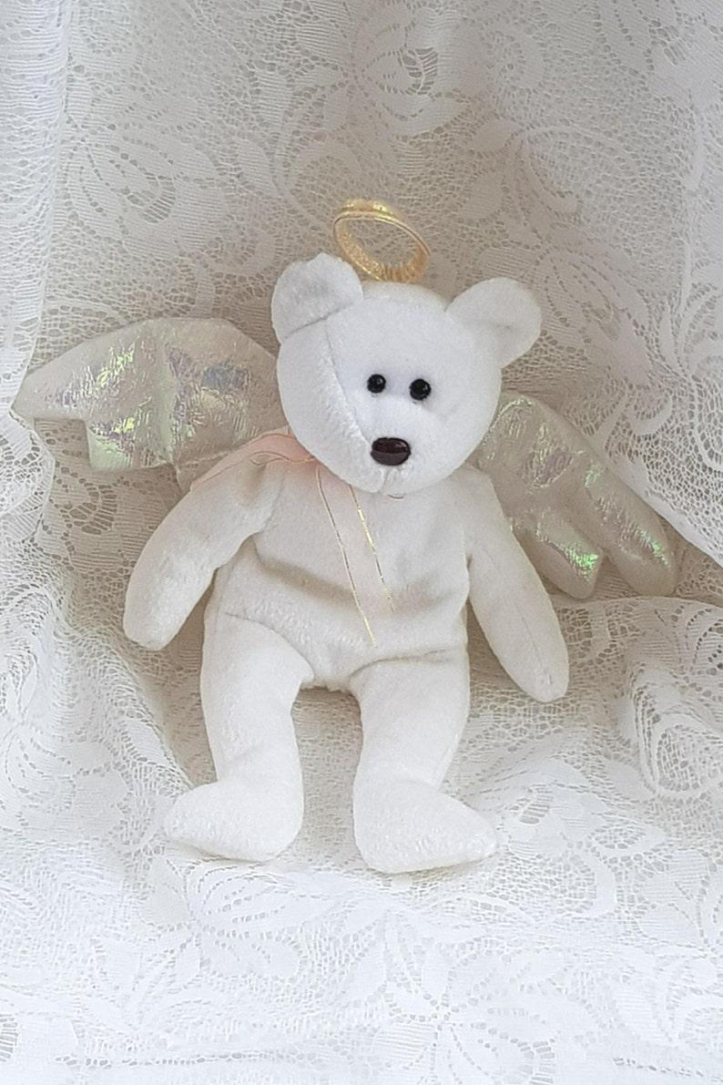 490632c40de Vintage HALO White Angel Beanie Ty Bear Ty Beanie Baby Bear
