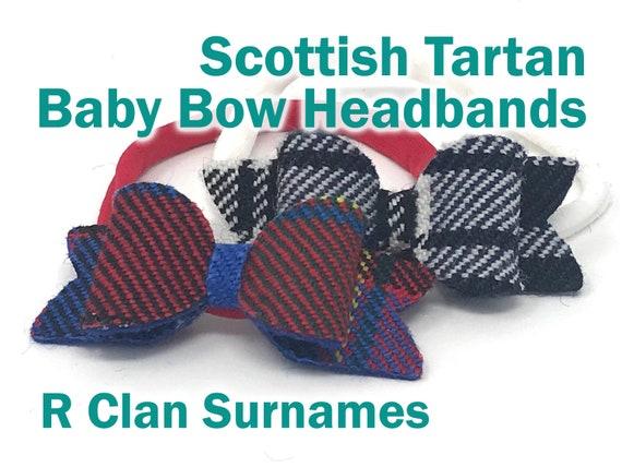 Scottish Tartan Hairband ladies//girls hand made