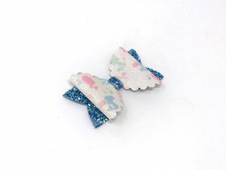 party hair clip Mermaid hair bow girls hair clips under the sea princess ocean sparkly glitter hair bow scalloped bows gifts for girls