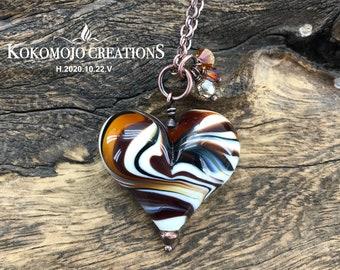 Anatomical Heart Glass Bead Custom Red Glass Heart Flameworked Wearable Art Handmade by Amy Bond