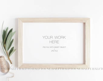 Horizontal Frame Mockup,Horizontal Frame Stock Photo,Wall Art Display,Frame Mockup,Rustic Frame Mockup,Wooden Frame Mockup,Poster Mockup