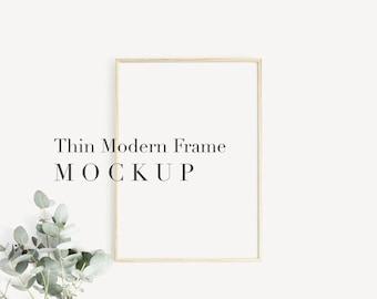 Frame Mockup,Mockup frame,Thin Modern Frame,Thin Frame,Modern Mockup,Print Mockup,Poster Mockup,A4 A3 A5 Frame Mockup,Wooden Frame Mockup