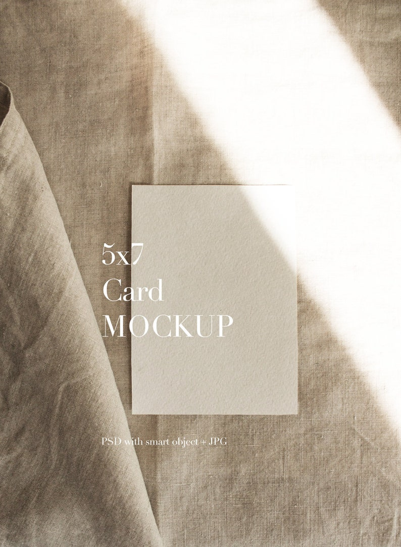 Card Mockup5x7 Card MockupMockup CardModern image 0