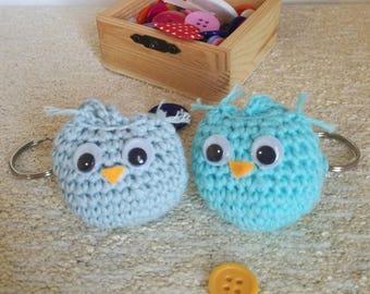Little amigurumi owl | crochet keychain