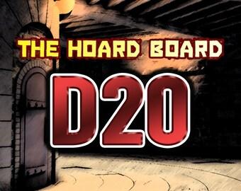 The Hoard Board - DND Roll Chart, D20 Version