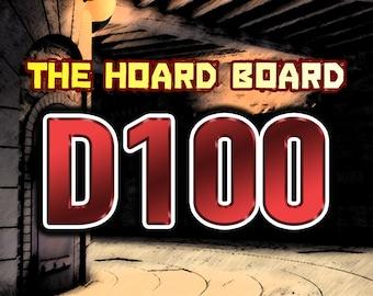 The Hoard Board - DND Roll Chart, D100 Version