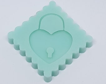 Silicone Mold heart lock/Silicone Mold Heart Lock